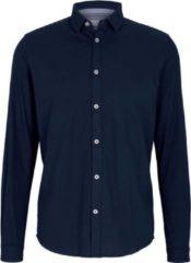 Blauwe Tom Tailor Overhemd Met Gestructureerde Stof 1023881xx10 10302