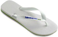 Cruff Havaianas Slippers - Unisex wit/blauw - Maat 27/28