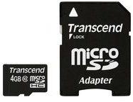 Transcend Information Transcend Premium - Flash-Speicherkarte (microSDHC/SD-Adapter inbegriffen) TS4GUSDHC10