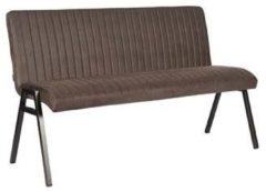 Antraciet-grijze Budget Design Store LABEL51 - Eettafelbank Matz 145 cm - Microvezel - Antraciet