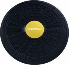 ScSPORTS® Balansbord - Balance Board - Ø ca. 35.5 cm - 5 cm hoog - zwart/geel