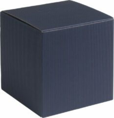 Papyrasse Geschenkdoosjes vierkant-kubus karton 09x09x09cm DONKERBLAUW (100 stuks)