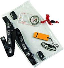 Trekmates Dry Map Case Set - wasserdichte Schutztasche für Kartenmaterial oder Wertsachen, mit Kompass und Signalpfeife