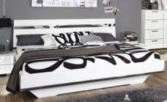 Rauch-SELECT Bett Liegefläche 160 x 200 cm Weiss Hochglanz / Chrom / Spiegel / Alpinweiss RAUCH SELECT Denia
