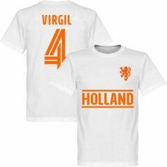 Retake Nederlands Elftal Virgil Team T-Shirt - Wit - M