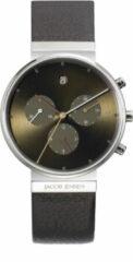 Jacob Jensen 604 Horloge Titanium chronograph saffierglas 37 mm