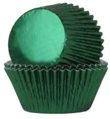 Groene House of Marie Cupcake Cups Folie Groen 51x28mm. 24st.