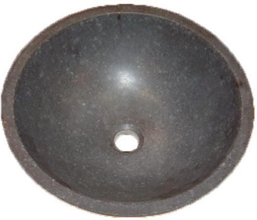 Afbeelding van Douche Concurrent Waskom Opbouw Rondo Rond 40x40x15cm Limestone Antraciet