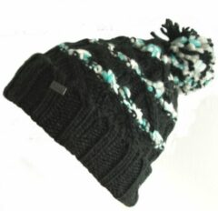 Oakley damesmuts wintermuts beanie met pompon kleur zwart van acryl