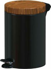 ALDA Excellent, Pedaalemmer – 5L – Zwart – afvalbak, prullenbak,