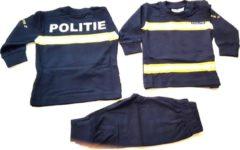 Marineblauwe Politie - pyjama - Baby/Peuter/Kleuter/Kinder - Pyjama-Streep- collectie Fun2wear - Maat 74