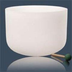 Bruine Yogi & Yogini Kristallen klankschaal E-toon 432 Hz -- 30 cm