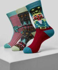 Urban classics Christmas Nutcracker Socks 3-Pack Kerstmis - Kerst - Feestdagen - Casual - Geschenk - Cadeau