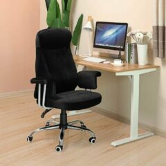 Songmics 360 Draaibare Bureaustoel - Verstelbare zithoogte - Zwart