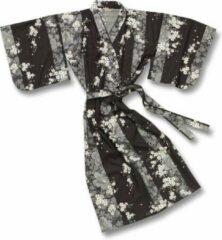 TA-HWA Traditionele Japanse Kimono Yukata Sakura Zwart Dames Nachtmode kimono One Size