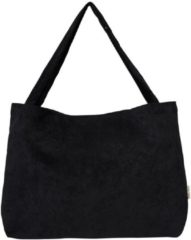 Zwarte Studio Noos Mom-Bag shopper rib all black