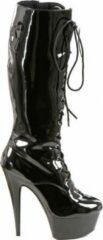 Soisbelle Grote Maten knee Boot S9161 Zwart Maat 44