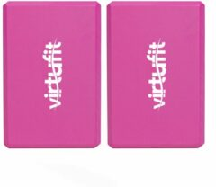 VirtuFit Yoga Blok Set - EVA Foam - Roze - 2 stuks