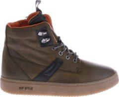 HIP Shoe Style Jongens Enkelboots Gevoerd - Groen - Maat 39