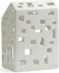 Kähler Design Kahler Design Urbania Waxinelichthouder - Huis Funkis - Hoogte 14.5 cm - Wit