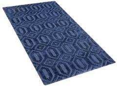 Blauwe Beliani Adatepe Vloerkleed Viscose 80 X 150 Cm