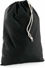 Bellatio Design Zwart katoenen canvas opberg zakjes/tasjes met afsluitkoord 10 x 15 cm - cadeau tasjes/goodie bags