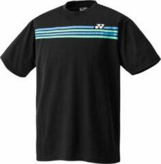 Yonex Tennisshirt Team Shirt Zwart Heren Maat Xxl