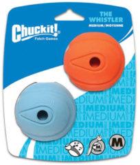 Chuckit Whistler Balls - Hondenspeelgoed - 6 cm Blauw Oranje M