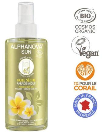Afbeelding van Alphanova Sun Sun vegan dry oil spray paradise bio 125 Milliliter