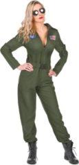 Groene MODAT - Vliegtuig piloot kostuum voor vrouwen - M - Volwassenen kostuums