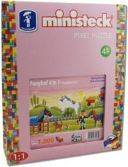 Roze Ministeck Pony's 4in1, 1000st. Afmeting artikel: 26,6 x 33,3 cm