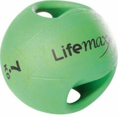 Zwarte LifeMaxx Double handle medicine ball 7 kg