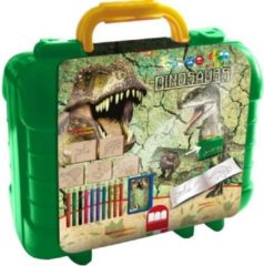 Basic Dinosaures Koffer Kleur- en Stempelset 29-delig
