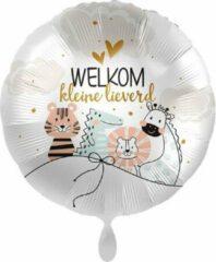 Everloon - Folieballon - Welkom Kleine Lieverd - 43cm - Voor Geboorte Baby Jongen of Meisje