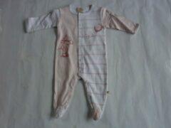 Roze Pyjama noukie's 6 maand 68cm meisje streep rose wit