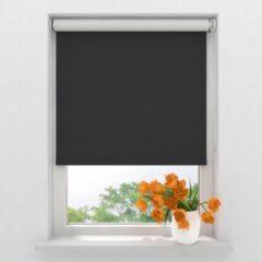 Zwarte Raamdecoratie.com Rolgordijn Easy Verduisterend - Black - 70x190 cm