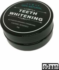 Zwarte ODaani Activated Organic Charcoal - Teeth whitening - Tandenblekend poeder - 30 gram