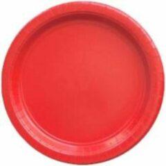 Stemen Kartonnen Bordjes rood 18cm 20st - Wegwerp borden - Feest/verjaardag/BBQ borden / Gebak bordjes maat