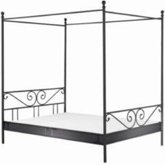 Himmelbett Metallbett Bett 140x200 cm schwarz Cats Collection schwarz