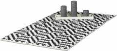 Relaxdays vloerkleed katoen - antislip kleed - zwart-wit - woonkamer tapijt - 3 groottes 70x140cm