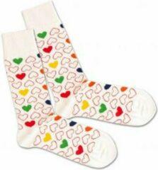 Witte DillySocks Dilly socks Empty Heart Sock