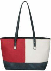 Marineblauwe Shopper Sina Jo rood/wit/marine