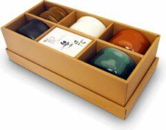Groene Matcha Winkel Matcha Thee Kommen Set 'Zen' - 5 mini Matcha Chawan's - Ook geschikt voor reguliere Thee
