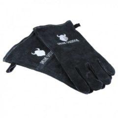 Rode Valhal Outdoor hittebestendige BBQ-handschoenen, leer, zwart
