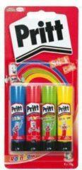 Rode Lijmstift 10 gram Pritt Rainbow Schoolpack