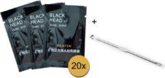 Pilaten blackhead masker - 20 sachets + comedone lepel voor alle overgebleven puisten