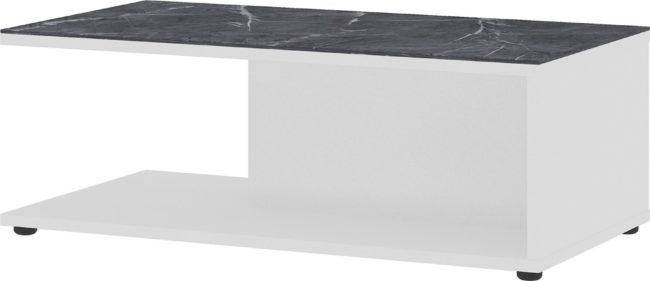 Afbeelding van Germania Salontafel California 109 cm breed in wit met marmer