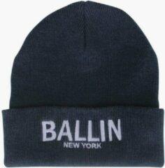 Blauwe Ballin Est. 2013 unisex muts navy wit geborduurd