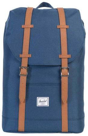 Afbeelding van Blauwe Herschel Retreat Mid-Volume Rugzak Navy/Tan Synthetic Leather