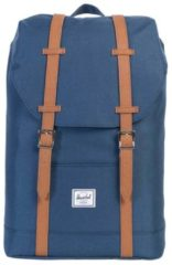 Blauwe Herschel Retreat Mid-Volume Rugzak Navy/Tan Synthetic Leather